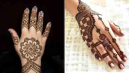 Royal Back Hand Mehndi Design