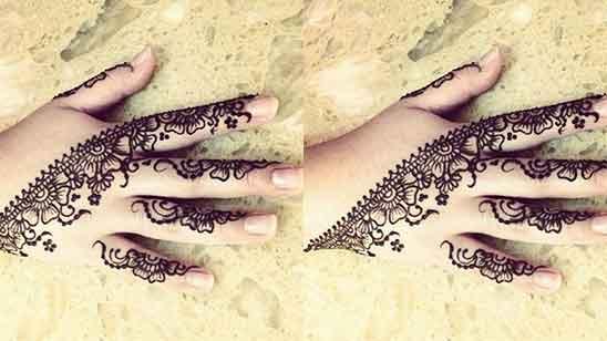 Royal Finger Mehndi Design