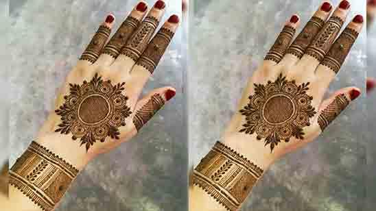 Royal Half Hand Mehndi Design