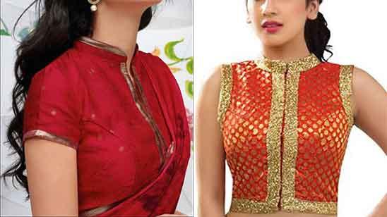 Simple Collar Blouse Design