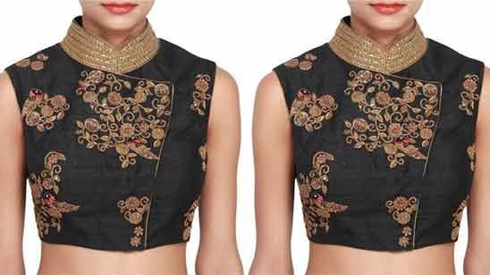 Simple Collar Neck Blouse Designs