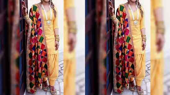 Simple Salwar Suit for Wedding