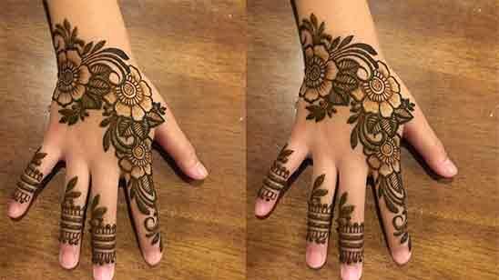 Single Finger Mehndi Design