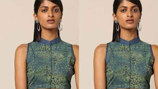 Stand Collar Blouse Indian