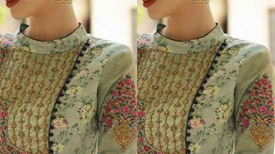 Standing Collar Blouse Design