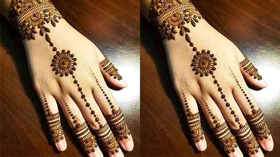 Stylish Finger Mehndi Design
