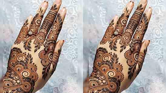 Stylish Modern Finger Mehndi Design