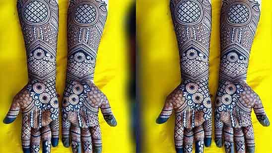 Wedding Bridal Mehndi Designs for Full Hands