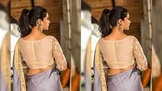 Wedding Net Blouse Design