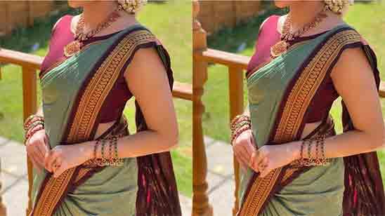 Wedding Paithani Blouse Design Patterns Back Neck
