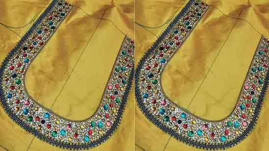 Aari Work Blouse Hand Design