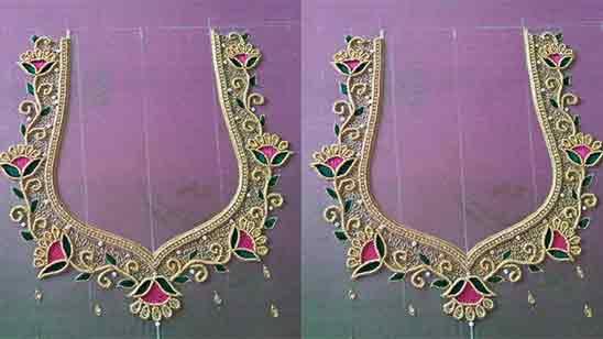 Aari Work Blouse Hand Designs
