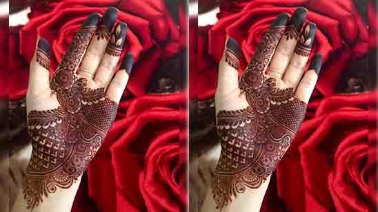 Arabic Simple Easy Front Hand Modern Mehndi Design