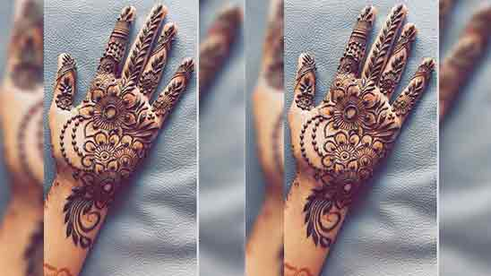 Arabic Simple Mehndi Designs For Front Hands