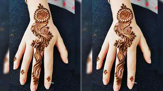 Back Hand Mehndi Design Simple And Easy