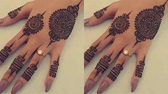 Back Hand Mehndi Design Simple And Easy Images