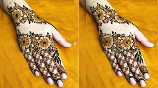 Back Hand Mehndi Easy Design