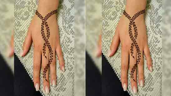 Back Mehndi Design Simple And Easy
