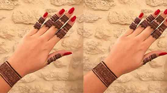 Back Side Mehndi Design Simple And Easy
