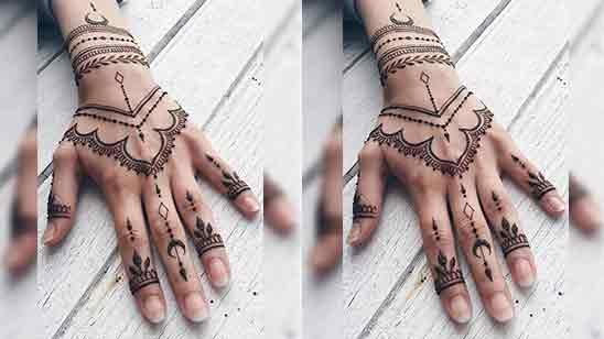 Beautiful Half Hand Mehndi Design