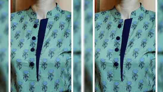 Cotton Salwar Suit Neck Design