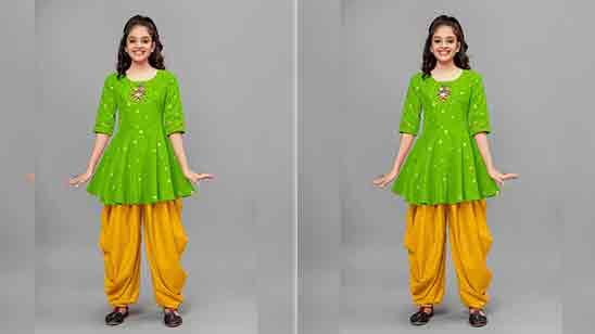 Dhoti Salwar For Baby Girl