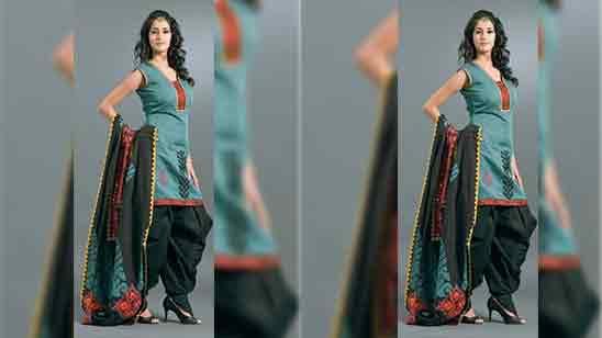 Dhoti Salwar Suit For Girl