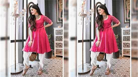 Dhoti Salwar Suit For Girls