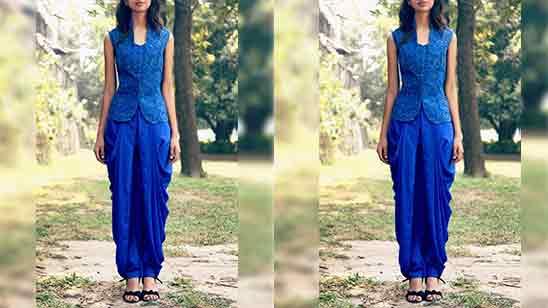 Dhoti Salwar Suit For Ladies