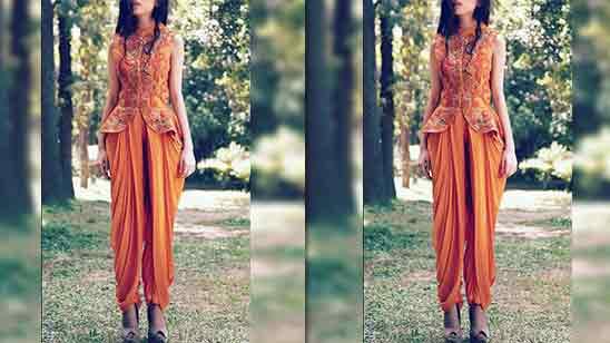 Dhoti Salwar Suit With Jacket