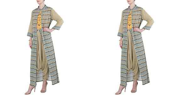 Dhoti Salwar Suit With Shrug