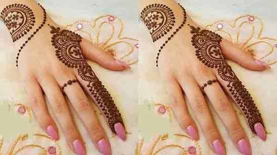 Easy And Simple Finger Mehndi Design