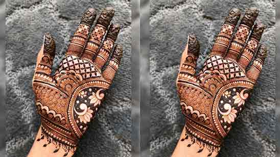 Easy And Simple Mehndi Design For Front Hand