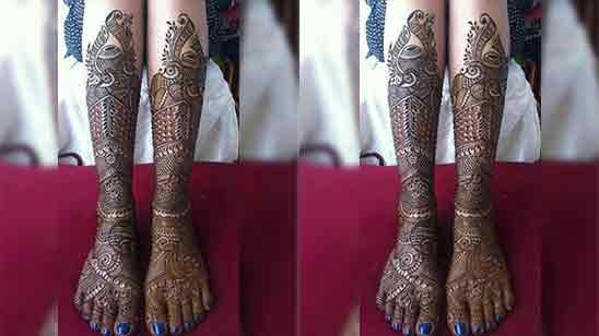 Easy Mehendi Design For Leg