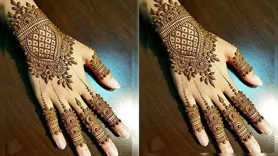 Easy Simple Back Hand Mehndi Design