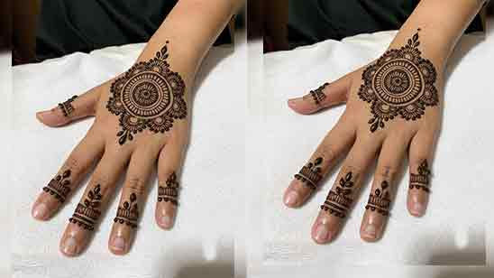 Easy Simple Back Hand Mehndi Designs