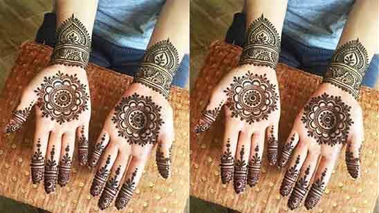 Easy Simple Mehndi Design For Front HandEasy Simple Mehndi Design For Front Hand