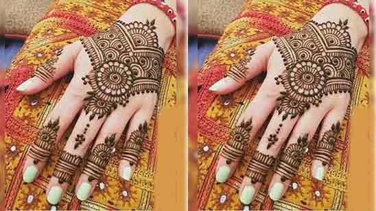 Eid Easy Simple Finger Mehndi Design