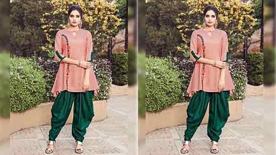 Fancy Dhoti Salwar Suit