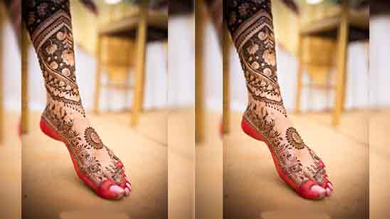 Foot Mehndi Design Simple And Easy