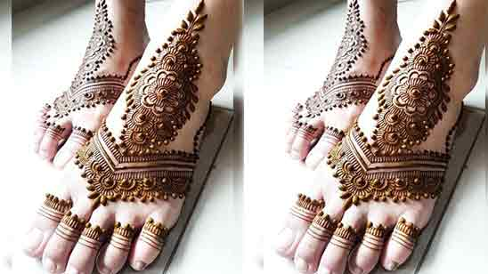 Foot Mehndi Design Simple And Easy Photo