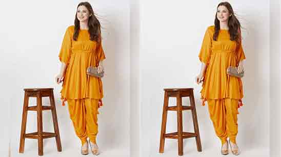 Frock Suit With Dhoti Salwar