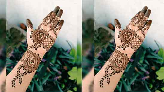 Front Hand Mehndi Design Simple And Easy