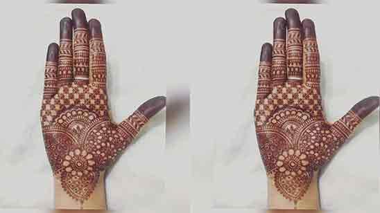 Front Hand Mehndi Simple Design