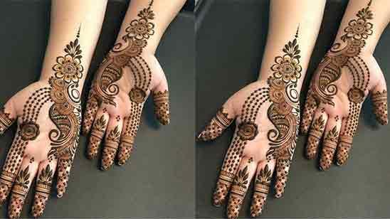 Front Side Mehndi Design Simple