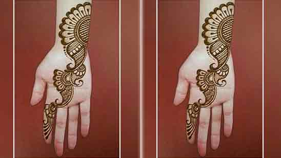 Front Simple Mehndi Designs