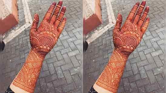 Full Hand Mehndi Design Simple And Beautiful