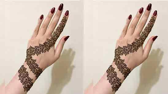 Full Hand Simple Mehndi Design