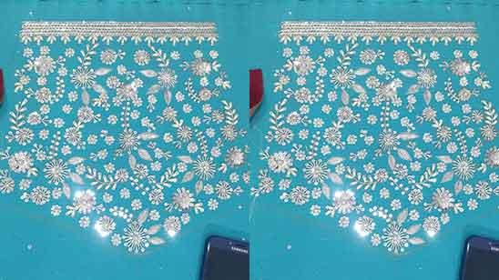 Grand Aari Work Blouse Designs
