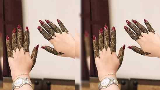 Half Hand Mehndi Design Easy